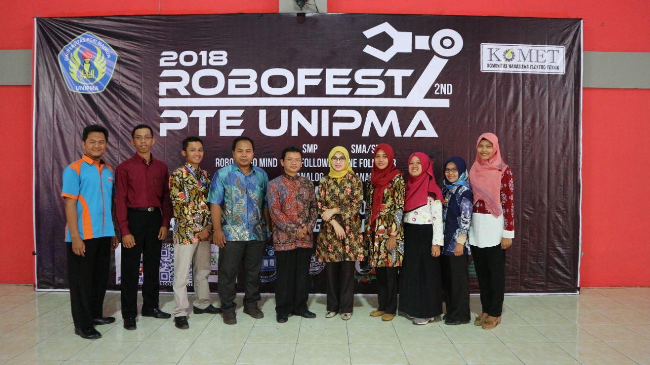 "Lomba Robotika ""PTE UNIPMA ROBOTIC FESTIVAL"" SD/SMP/SMA Sederajat se-Jawa Bali 2018"