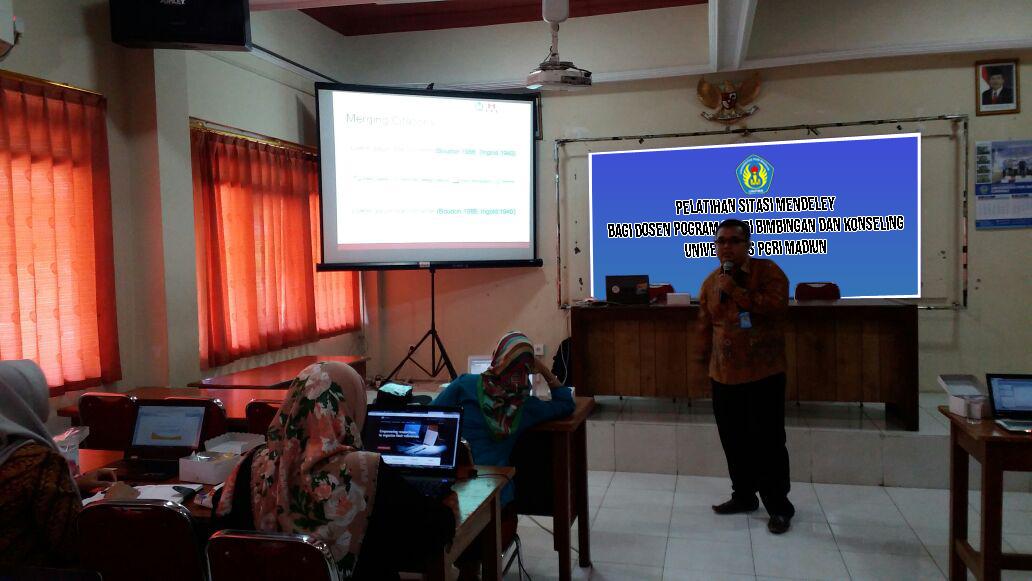 Pelatihan Sitasi Bagi Dosen Program Studi Bimbingan dan Konseling