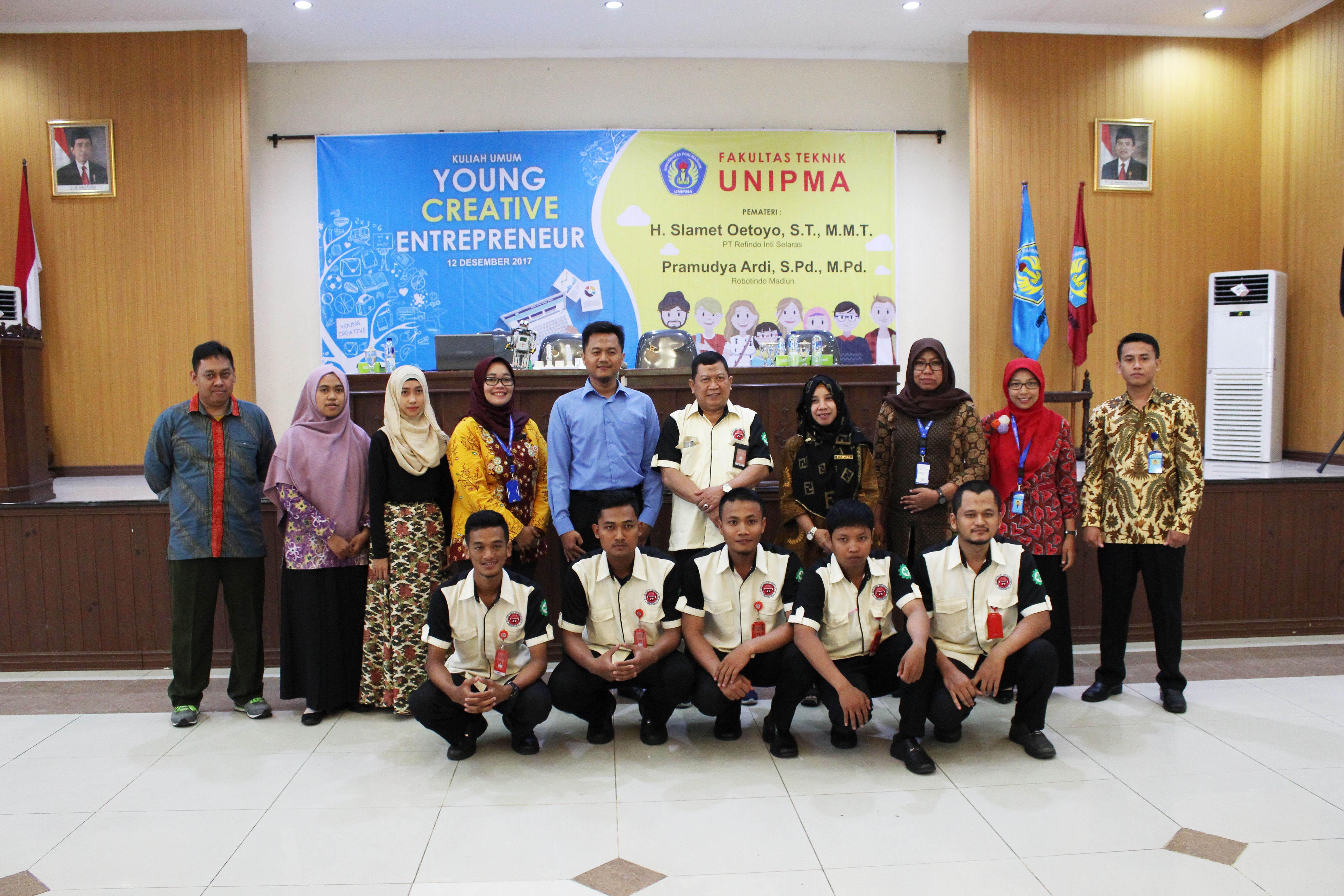 Kuliah Umum Fakultas Teknik  Dengan Tema Young Creative Entrepeneur Diikuti Mahasiswa Program Studi Sistem Informasi