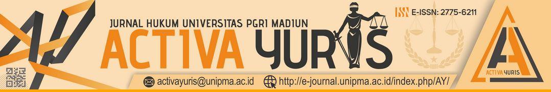 Jurnal hukum ACTIVA YURIS